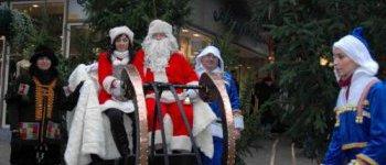 L'arrivée du père Noël et de son renne